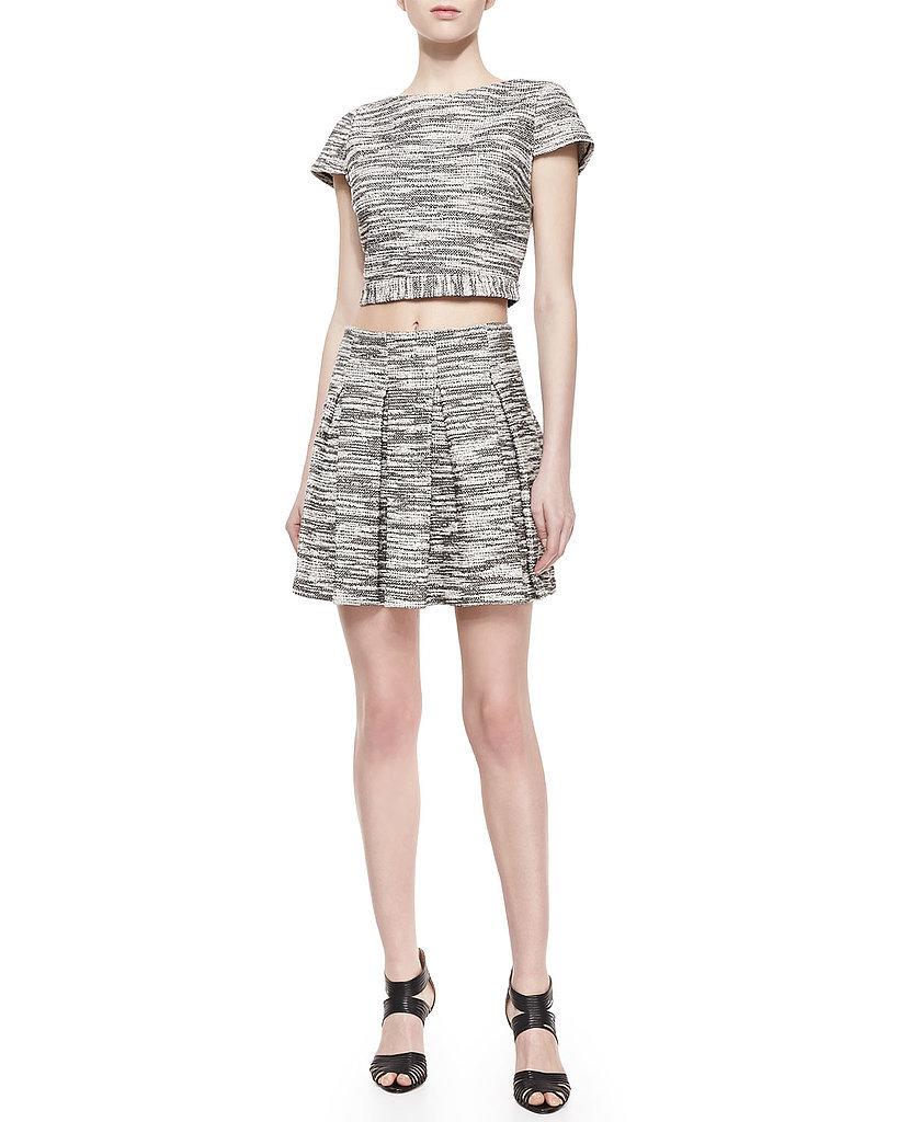 Alice + Olivia Davis Tweed Crop Top and Skirt