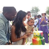 """Kim and Kanye celebrated North's first birthday in June 2014 with a """"Kid-chella"""" party."""