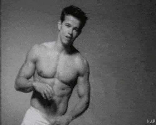 Mark Wahlberg in a 1991 Calvin Klein Ad