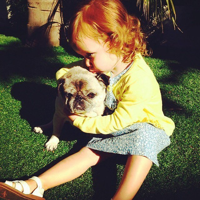 Haven Warren shared her love with her little friend. Source: Instagram user jessicaalba