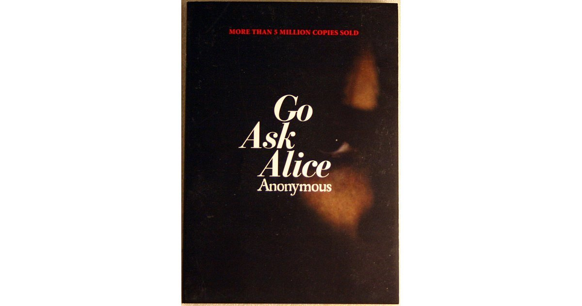 go ask alice book review essays Go ask alice book review not sure whether a certain writer suits your needs view three samples of papers completed by a writer recently for just $5 and make up your mind.