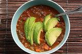 Lentil Veggie Soup With Avocado