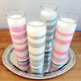 Glitter Wedding Candles