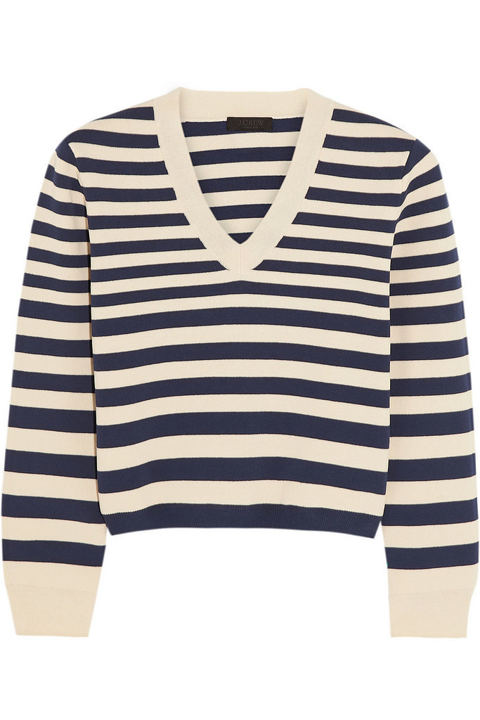 J.Crew Collection Striped Sweater + Thakoon Addition Cutout Dress