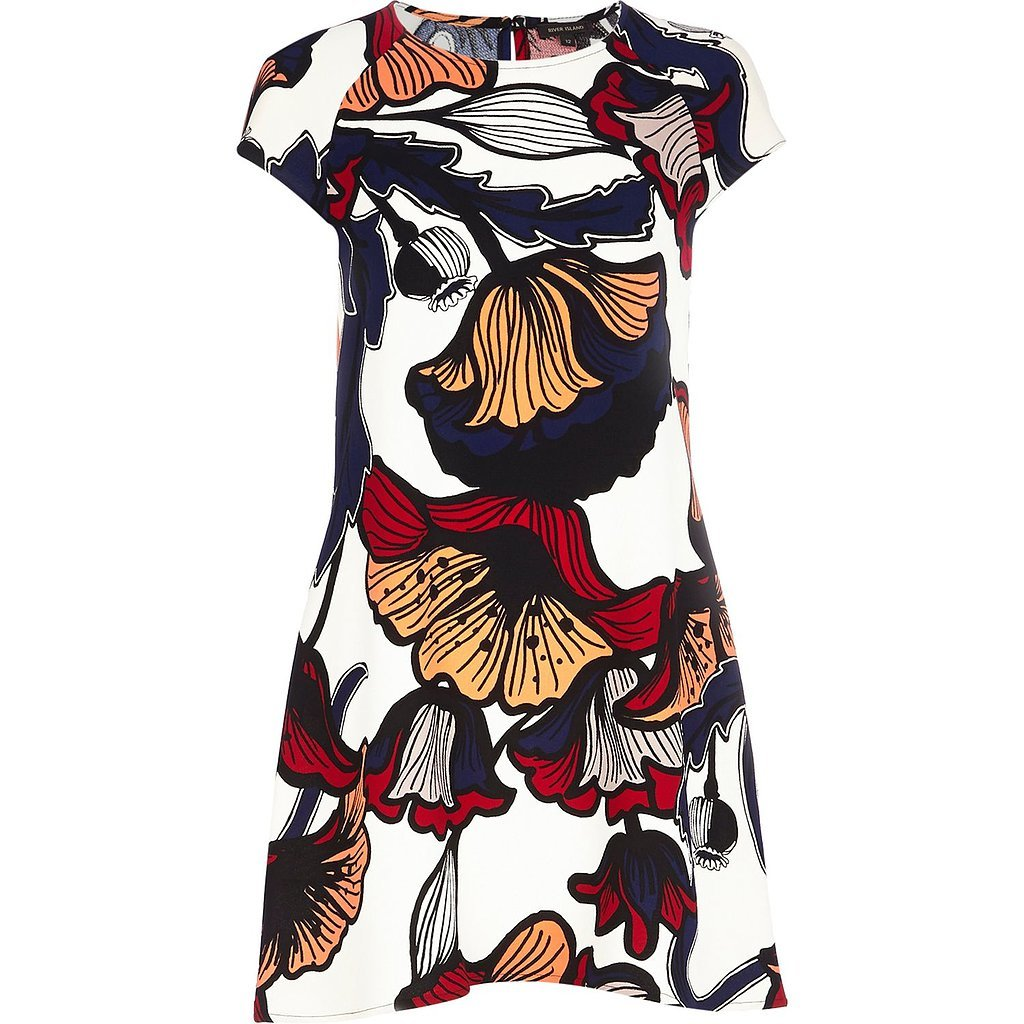 River Island Swing Dress + Topshop Boucle Cardigan