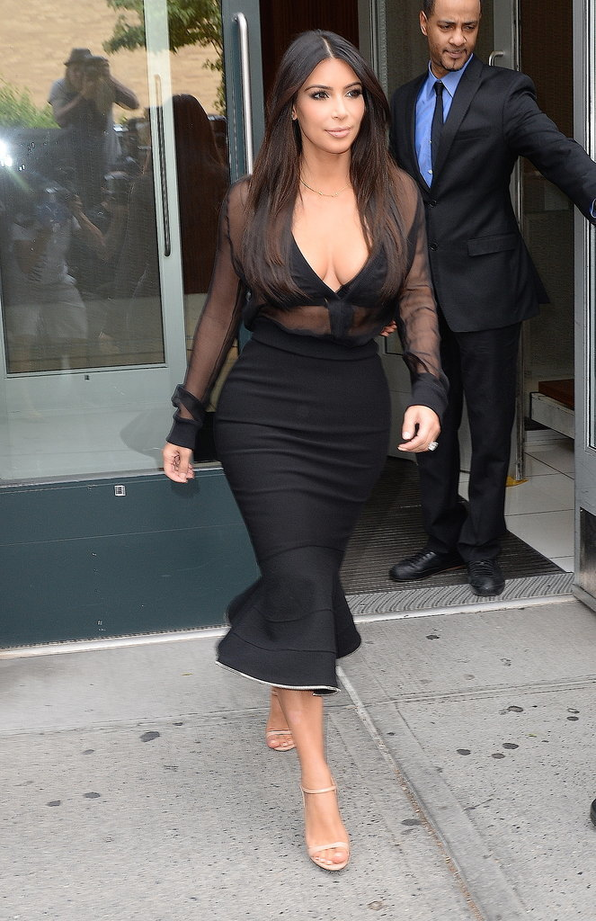 On Monday, Kim Kardashian popped up in NYC.