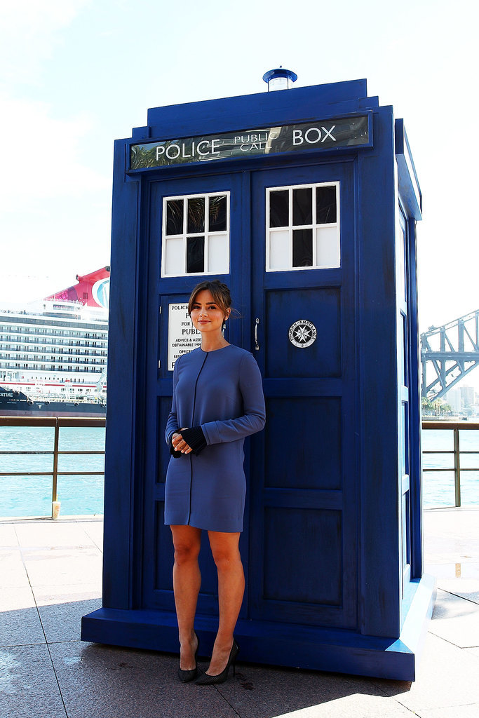 Of course Jenna looks great in TARDIS blue!