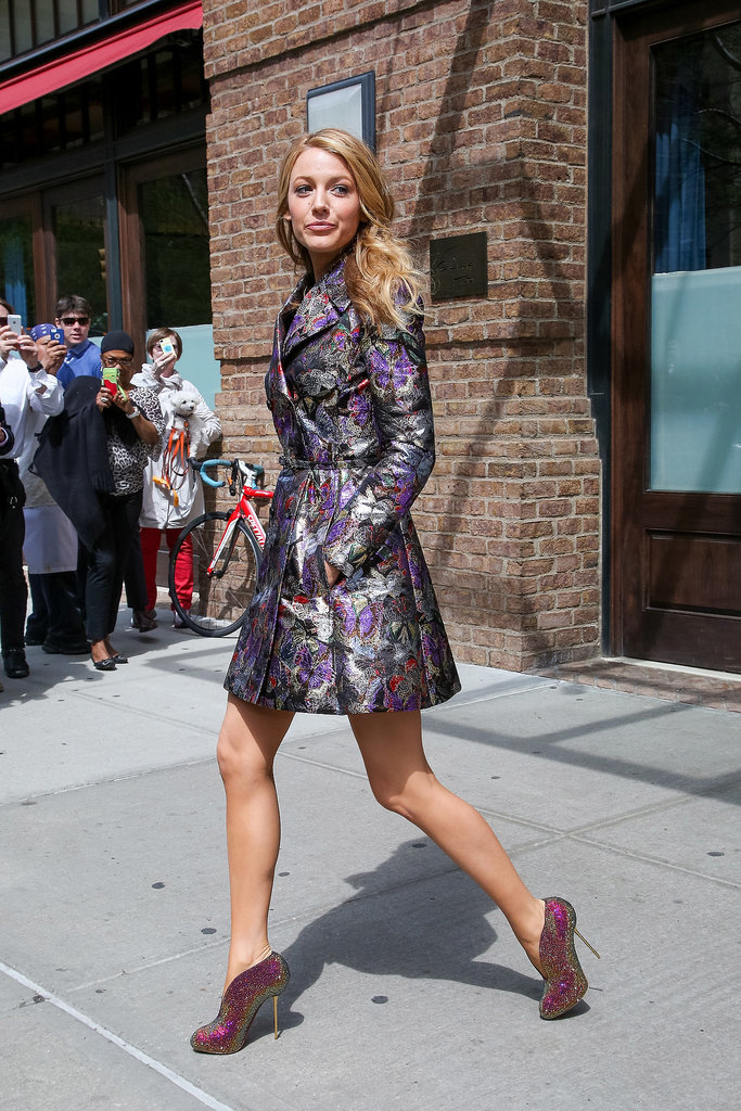 Blake Lively Exiting the Greenwich Street Hotel