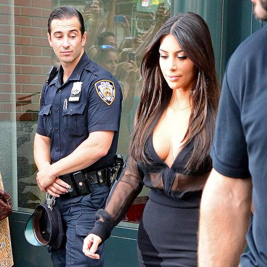 Photos Of Cops Checking Out Kim Kardashian In New York