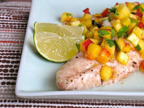 Rockfish With Peach Salsa