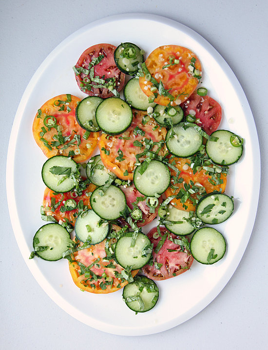Southeast Asian Heirloom Tomato and Cucumber Salad