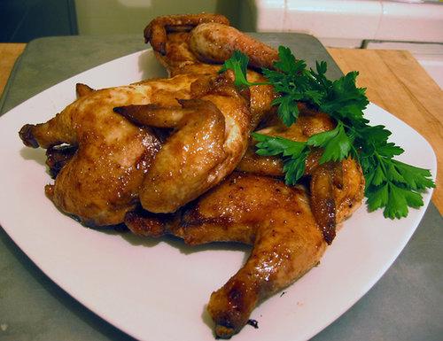 Honey and Cumin-Glazed Cornish Hens