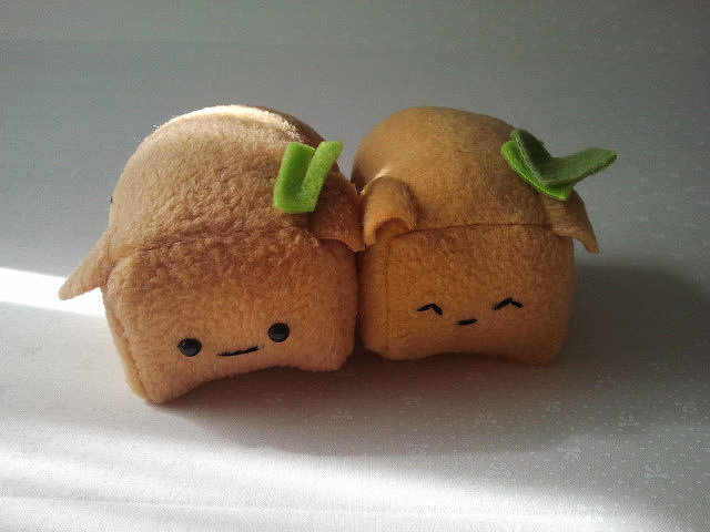 Mini Tofu Pup Sushi Plush
