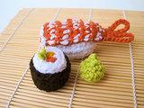 Crochet Organic Sushi Catnip