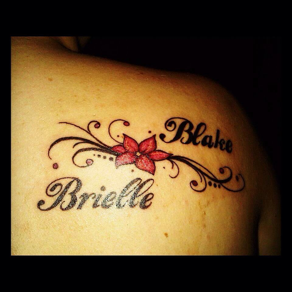 """""""Don't regret it at all, my first and only tattoo (as of right now) is for my children!"""" —Nadine Mollard"""