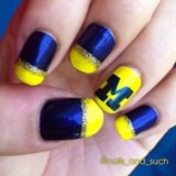 School Spirit Nail Art