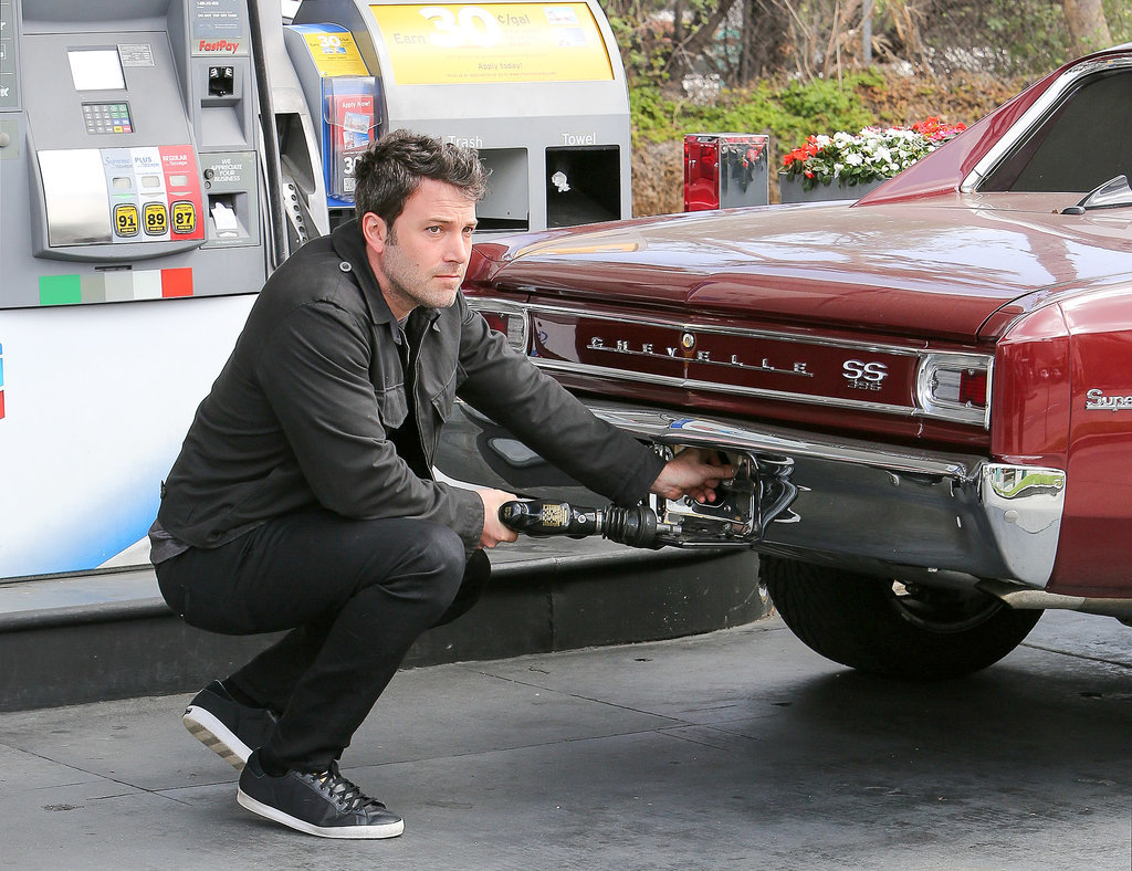 When He Casually Put Gas in His Vintage Car