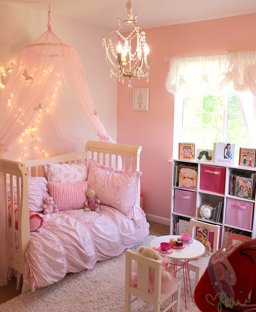 A Pink Princess Butterfly Room