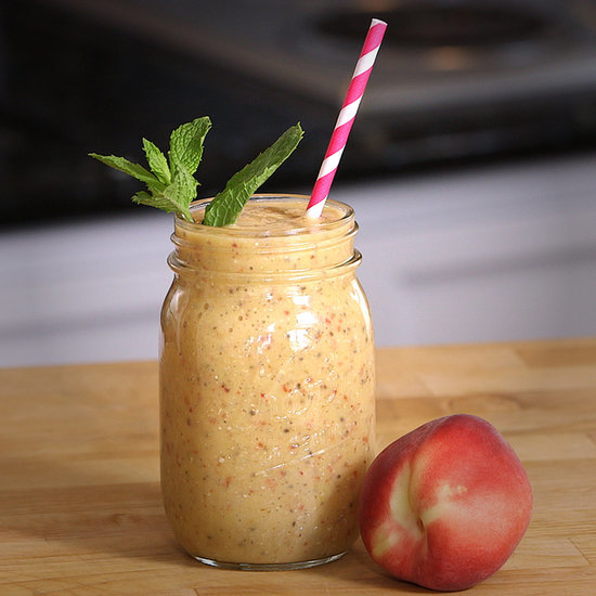 A Vegan Peaches and Cream Smoothie Will Quench Your Ice Cream Cravings