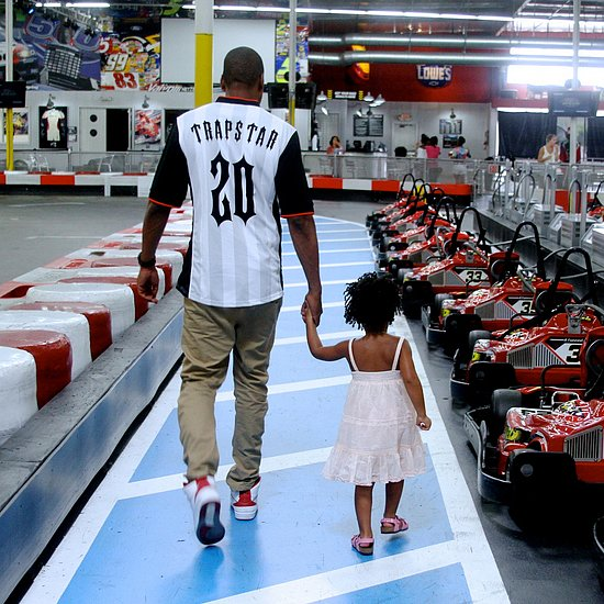 Beyonce, Jay Z, Blue Ivy Go Kart Racing Pictures