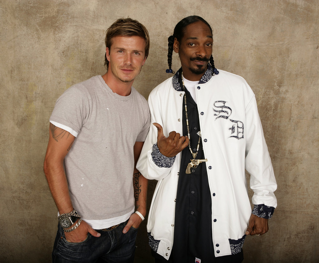 David Beckham and Snoop Lion
