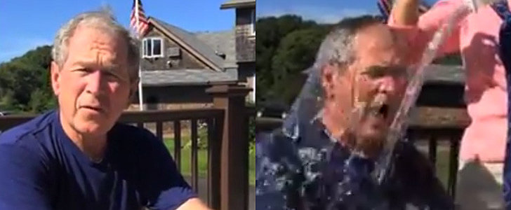 George W. Bush Takes the Ice Bucket Challenge — See Who Else Got Soaked!