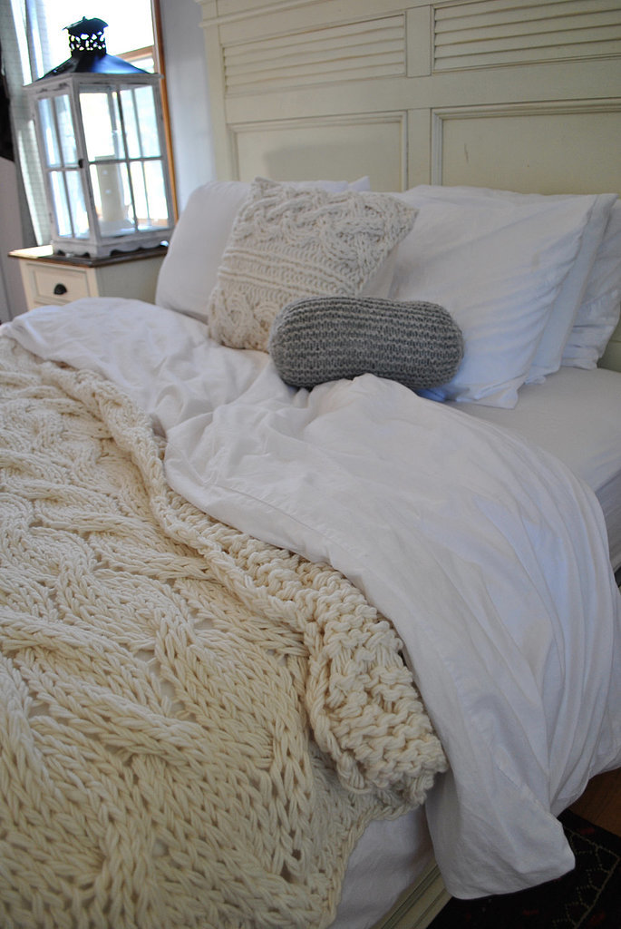 Nothing says cool temperatures and cozy nights like cable-knit bedding ($239).