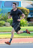Zac Efron scored a good workout while filming scenes for his upcoming movie We Are Your Friends in LA on Tuesday.