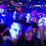 Cara Delevingne made a face during the Monster tour.  Source: Instagram user caradelevingne