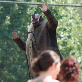 Tom Hardy as Bane Waving at Bridesmaids Picture