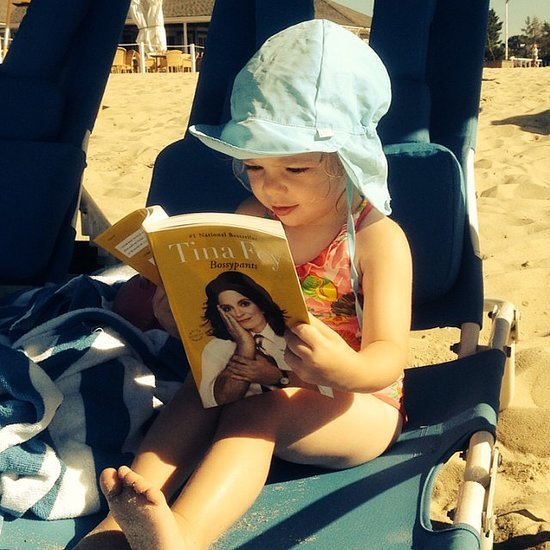 Drew Barrymore's Daughter Olive Reading at the Beach