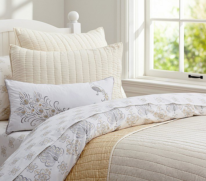Silk Channel Quilted Bedding