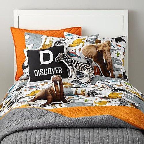 Orange-Accented Bedding
