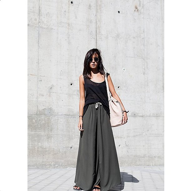 This one's for the ultimate lazy girl. With the return of sliders, palazzo pants and maxi skirts have never loo