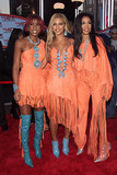 2001: Beyoncé, Kelly, and Michelle walked the red carpet together in their signature matching-but-not-matching ensembles.