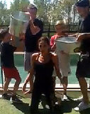 Victoria Beckham Collapses Under Weight of Water in Ice Bucket Challenge, Gets Soaked by Kids
