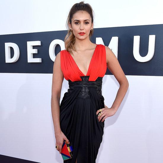 Nina Dobrev on the Red Carpet at the MTV VMAs 2014