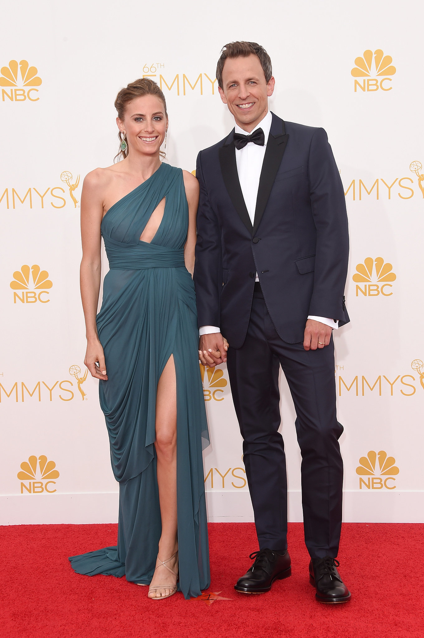 Seth Meyers and Alexi Ashe