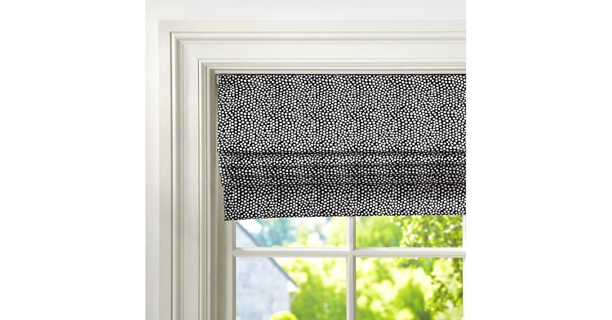 The Fun Dot Pattern On This Cordless Roman Shade 119