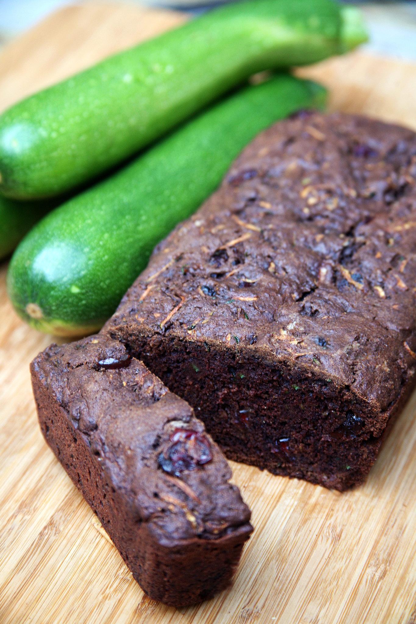 Vegan Chocolate Cranberry Zucchini Bread Recipe | POPSUGAR ...