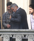 George Clooney and Jean Dujardin shoot Nespresso commercial in Italy