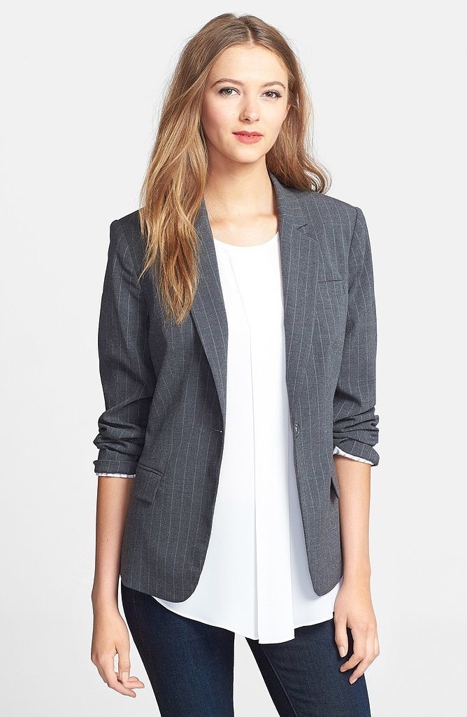 Vince Camuto One-Button Pinstripe Blazer