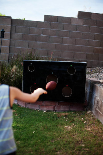 """Break down the box to save and store for next time! — Funny story. Big brother says """"He doesn't even know how to throw a football!"""" Guess who got it in on the first throw?"""