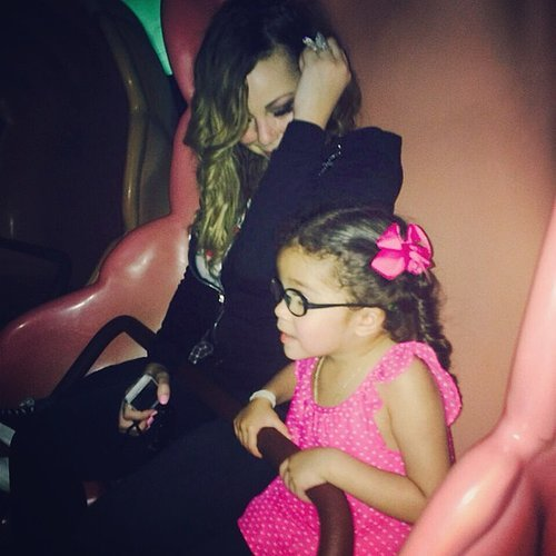 Mariah Carey enjoyed some amusement park time with her daughter, Monroe.