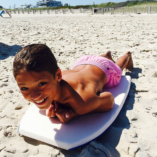 Joaquin Consuelos spent his vacation on his boogie board — which mom, Kelly Ripa, blamed on Shark Week.