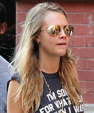 Cara Delevingne in New York before attending TIFF in support of The Face Of An Angel