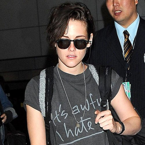 "Kristen Stewart in an ""It's Awful, I Hate It"" T-Shirt"