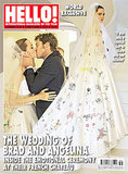 Angelina Jolie's Wedding Dress Featured Colorful Designs Drawn By Her and Brad Pitt's Kids -- See the First Pic!