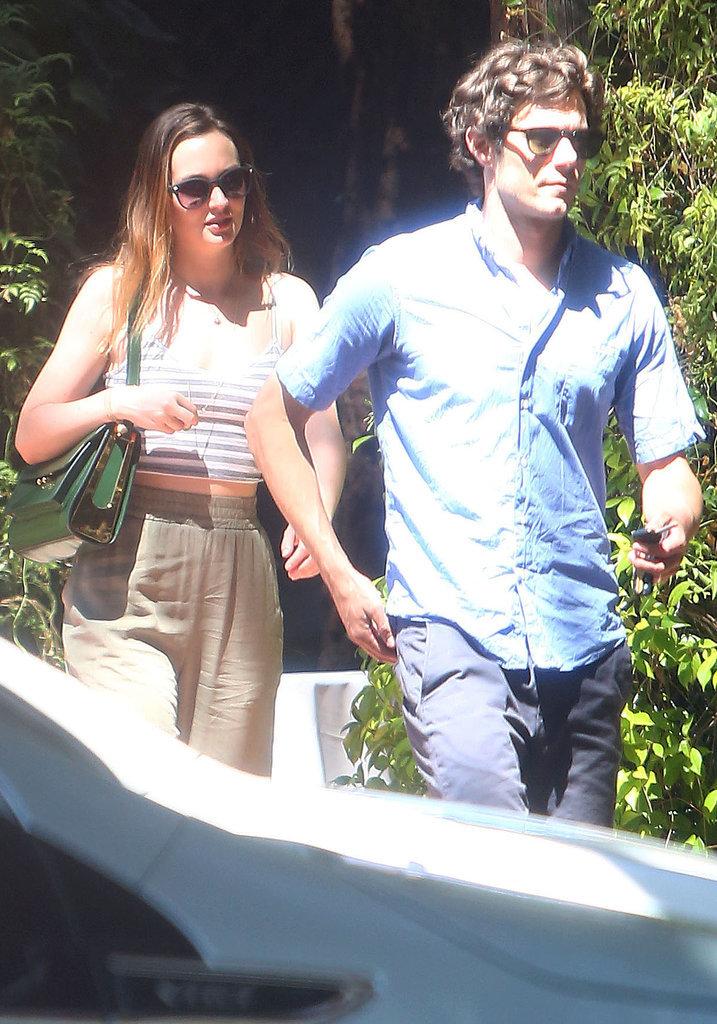 Leighton Meester and Adam Brody explored Topanga, CA, on Sunday.