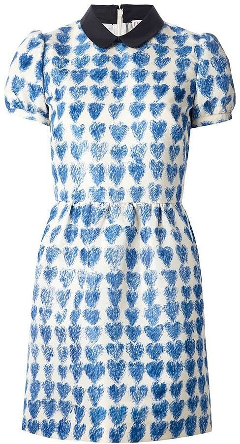 Valentino Heart Print Dress